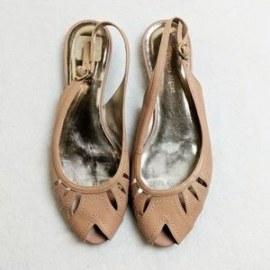 Shoes - Etienne Aigner Nude Pink Slingback Cutout Flat 8